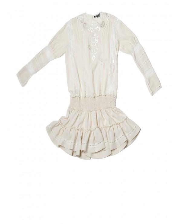 Vestido Romantico Bordado 7167