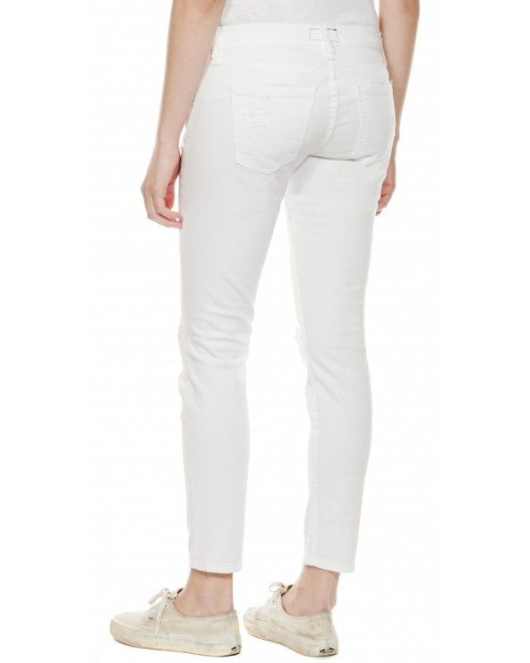 Jeans STILETTO 1280-0042 WHITE TATTERED