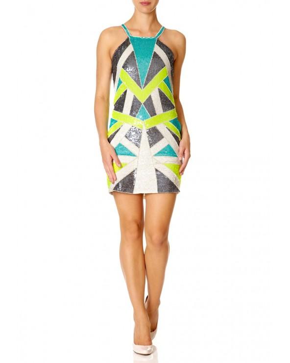Vestido Multicolor Sequined JUNO