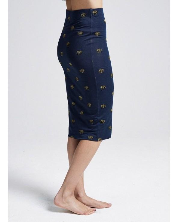 FALDA AJUSTADA LEOPARD HEAD ALL OVER fitted tube skirt PF171026