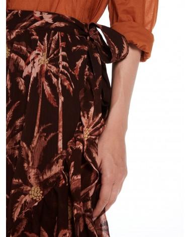 Falda cruzada con cinturón de lazo