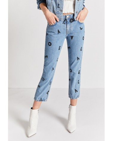 JEANS THE CROPPED STRAIGHT LOVE LETTERS CURRENT ELLIOTT