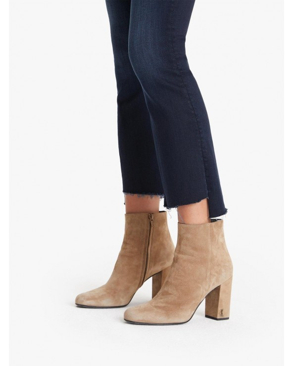 JEANS MOTHER THE INSIDER CROP STEP FRAY
