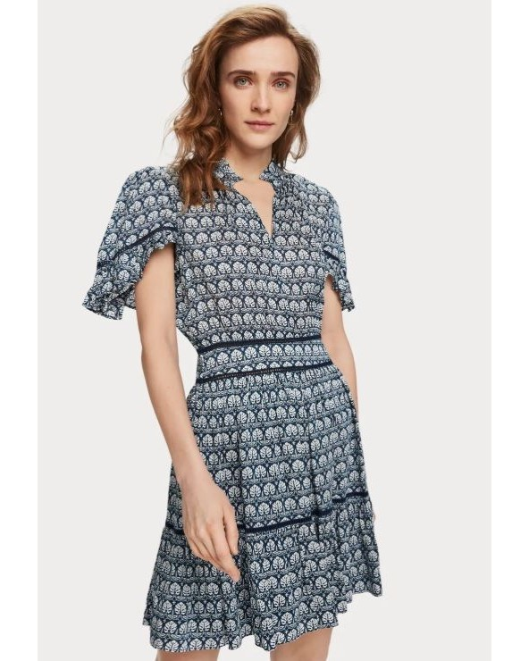 VESTIDO CORTO ESTAMPADO MAISON SCOTCH 155955